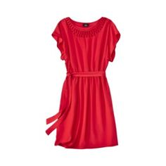 453e04b802a03f Belted Dress w Neck Detail - Assorted Colors  24.99 Cute Red Dresses