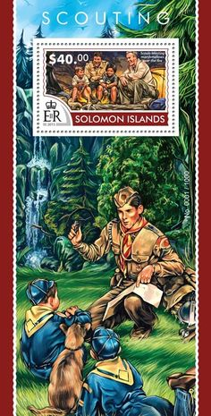Post stamp Solomon Islands SLM 15311 bScouting (Scouts toasting marshmallows over the fire)