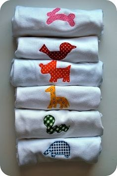 Baby animal applique onesies quilting-sewing-knitting