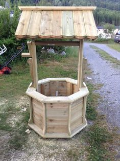 Pin on afval hout Backyard Projects, Diy Pallet Projects, Woodworking Projects Diy, Outdoor Projects, Garden Projects, Outdoor Decor, Woodworking Plans, Wishing Well Plans, Wooden Planters