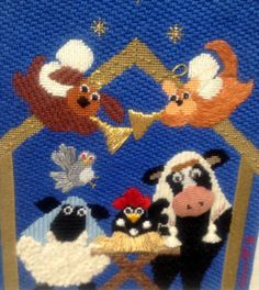 A CHRISTMAS PAGEANT - Annie Lane Designs Stitch / Hand Painted Needlepoint Canvas and Stitch Guide @ http://www.bonanza.com/booths/annielaneneedlepoint