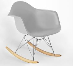 Cool Grey Eames Rocking Chair from Danetti.