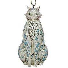 Jim shore designed this blue cat ornament for his heartwood creek