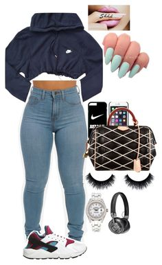 """i love you"" by mina-smith1 ❤ liked on Polyvore featuring NIKE, Louis Vuitton, Rolex and Master & Dynamic"