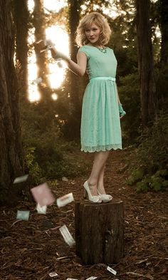 Shabby Apple Madhatter Collection: Alice Dress. Love the color!