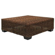 Low Square Side Table In Handwoven Black Pulut BLACK 14 By Gervasoni Design  Paola Navone