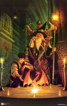 Conjuration: spells that bring creatures or materials to their aid. Specialists are called conjurers