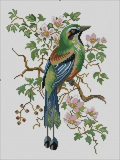 Thrilling Designing Your Own Cross Stitch Embroidery Patterns Ideas. Exhilarating Designing Your Own Cross Stitch Embroidery Patterns Ideas. Cross Stitch Bird, Cross Stitch Animals, Cross Stitch Flowers, Cross Stitch Charts, Cross Stitch Designs, Cross Stitching, Cross Stitch Embroidery, Cross Stitch Patterns, Loom Patterns