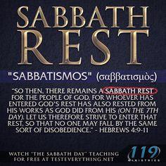 To keep the Sabbath.