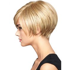 Short bob for pretty thick hair with attractive cuts and colors