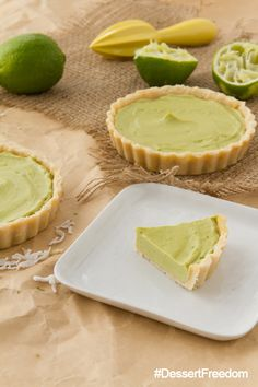 No Bake Key Lime Tarts #grainfree #vegan #glutenfree #dessertfreedom
