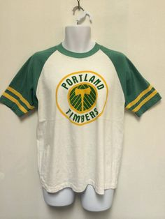 723fad090 PORTLAND TIMBERS Army Jersey 70s Shirt/ Vintage Rare Champion Blue Bar  Raglan Soccer Futbol T-shirt/ Pre MLS 50/50 Sewn Stripes Tee