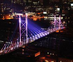 Nelson Mandela Bridge at night