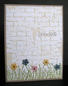 images sizzix brick wall embossing folder | brick' embossing folder by Tim Holtz (Sizzix) Inked embossing folder ...