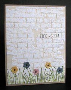 images sizzix brick wall embossing folder | brick' embossing folder by Tim Holtz (Sizzix) Inked embossing folder ...