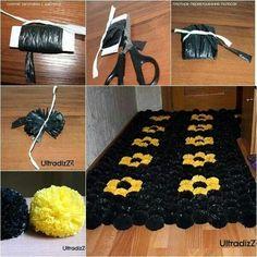 Trashbag door mat