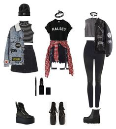 Goth-Grunge Outfits (requested) by grungeclothes on Polyvore featuring Urban Decay, Topshop, UNIF, R13, H&M, Windsor Smith, men's fashion and menswear