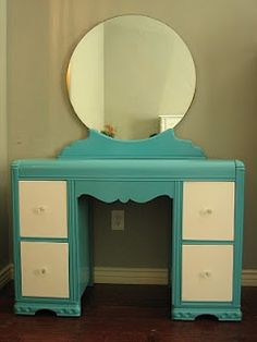 what to do with a not- so- cool waterfall vanity @Jordann Hamlin