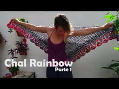 Chal Rainbow P1 - YouTube Crochet Hooded Scarf, Crochet Shawl, Crochet Lace, Knitting Videos, Crochet Videos, Prayer Shawl Patterns, Crochet Clothes, Crochet Projects, Crochet Patterns
