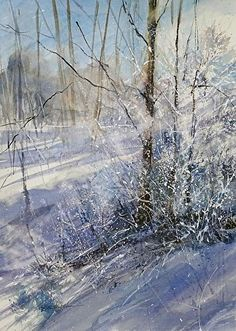 The Light on the Frost by Sandy Strohschein Watercolor ~ 30 x 22