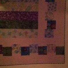 Offset border for a white quilt