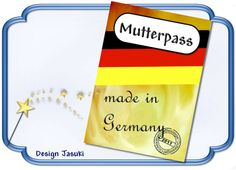 Mutterpass Made in Germany von Jasuki auf DaWanda.com