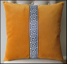 Image of Cushion Cover Orange with trim