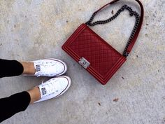 Chanel Boy and Chucks