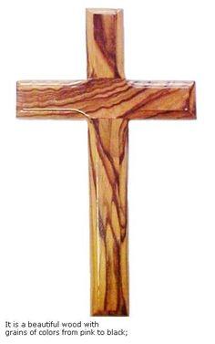 """Olive Wood Cross - 8"""""""