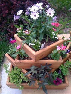 My Favorite Wood Planter by ourwhimsicalgarden on Etsy, $69.95