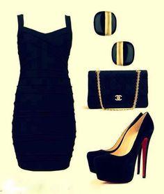 polyvore evening dress