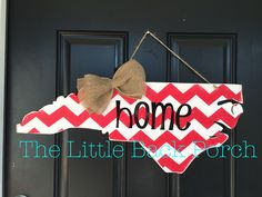 North Carolina Chevron Cutout Door Hanger -$35  Choose your paint colors and lettering!