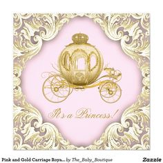 Nice free unicorn baby shower invitation templates free baby pink and gold carriage royal princess baby shower invitation filmwisefo
