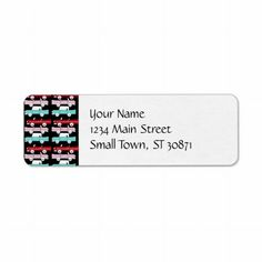 Retro Vintage Cars Pink Red Turquoise Blue Hot Rod Labels  #SOLD on #Zazzle