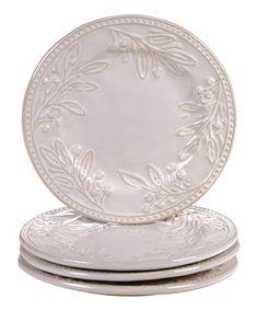 Love this Bianca Ivory Dessert Plate - Set of Four on #zulily! #zulilyfinds
