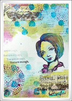 Neon Diary: Twinkling H2Os Journal page