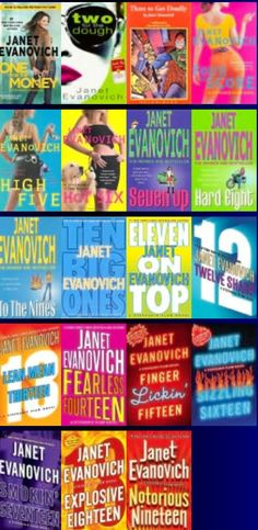 I have been in marathon reading mode....great summer reads! Author: Janet Evanovich  / Stephanie Plum Series