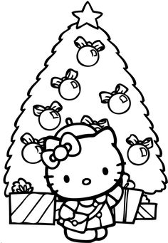 Hello Kitty Buy Christmas Tree Coloring Pages - Christmas Coloring Pages : KidsDrawing – Free Coloring Pages Online Hello Kitty Colouring Pages, Coloring Pages For Girls, Free Coloring Pages, Coloring For Kids, Coloring Books, Coloring Sheets, Hello Kitty Christmas Tree, Buy Christmas Tree, Christmas Colors