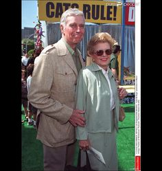 Charlton Heston et son épouse Lydia en 2001