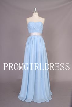 Comes in the teal color $89 A-line Strapless Ruffles Sleeveless Floor-length Chiffon Evening Dress