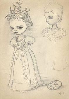 Mark Ryden, Catherine Sketch #1