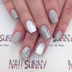 Light gray and sparkles!