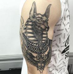 Resultado de imagen para อนูบิส tattoo