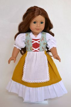 American Girl 18 Inch Doll Dress Fantasy Medieval Peasant Fairy Tale Hobbit on Etsy, $55.00
