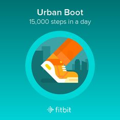 I took 15,000 steps and earned the Urban Boot badge! #Fitbit