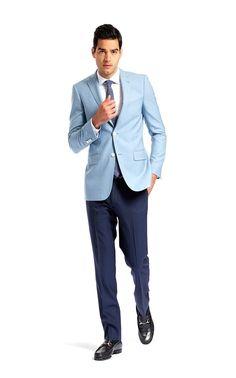 Kenneth Cole Reaction Men's Slim-Fit Light Blue Sport Coat - Blue ...