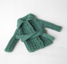 Green blythe vest Doll knitted cardigan by VolnaDollsClother