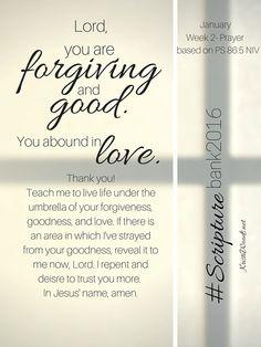 #ScriptureBank2016 ~ January Prayer
