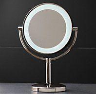 Modern Lit Tabletop Mirror | Extension & Tabletop Mirrors | Restoration Hardware