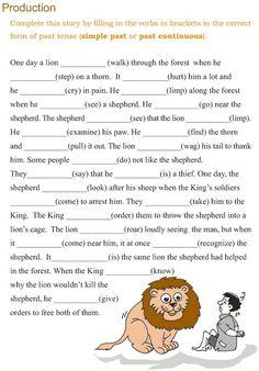 Grade 3 Grammar Lesson 10 Verbs – the past continuous tense:
